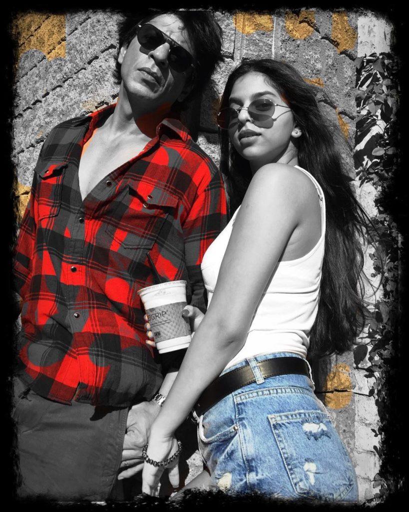 Shah-Rukh-Khan-Bollywood-actor-with-his-daughter-Suhana-Khan