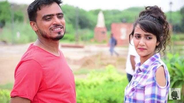 Youtuber Amit Bhadana with girlfriend and co-youtuber Riya Mavi
