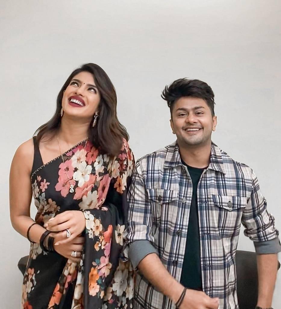 tiktoker-Awez-darbar-with-Bollywood-Actress-Priyanka-Chopra