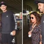 Neha Kakkar and Rohanpreet Singh appeared at the airport without a mask